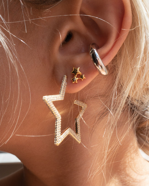 The Pave Star Hoops