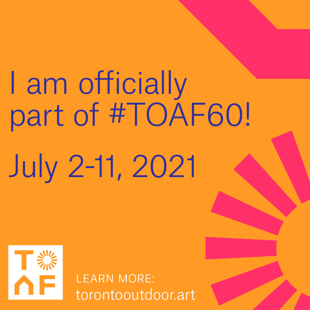 I'm officially a part of #TOAF60 Toronto Outdoor Art Fair