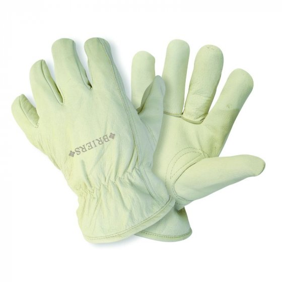 Ultimate Lined Leather Glove Cream - Medium