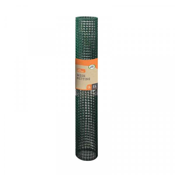 General Purpose Garden Mesh - 20mm, 1 x 5m, Green