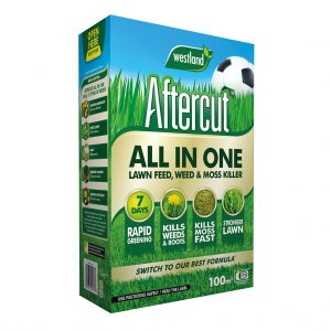Aftercut All In One Lawn Feed, Weed & Moss Killer - 100sqm box
