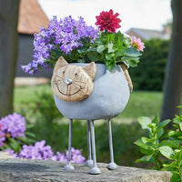 Woodstone Cat Planter