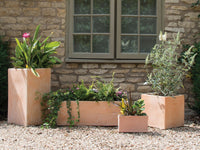 "Woodlodge ""Cubic"" Terracotta Range - Trough 90 x 40cm"