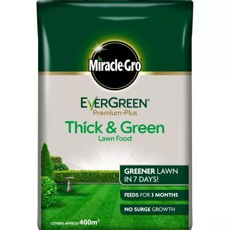 Miracle-Gro® EverGreen® Premium Plus Thick & Green Lawn Food 400sqm