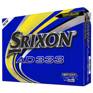 Srixon AD333 Yellow Golf Balls Dozen