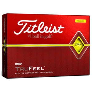 Titleist TruFeel Yellow Golf Balls Dozen
