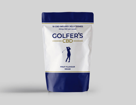 Golfers CBD 20mg Jelly Domes 10 Pack