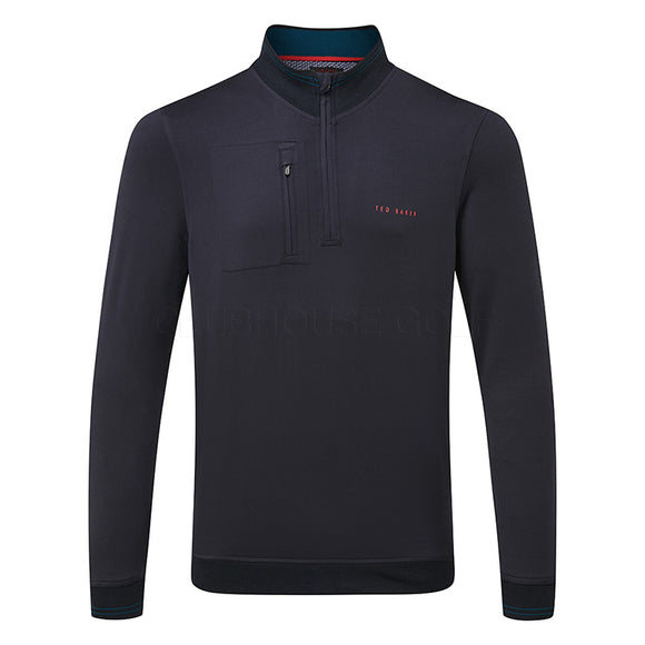 Ted Baker Newcomp 1/2 Zip Sweater - Navy