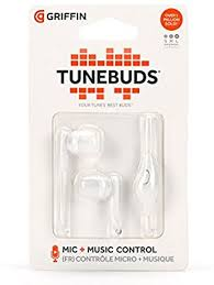 Griffin GC38201 Tunebuds Wired headsets for Smartphones (White+ Black)