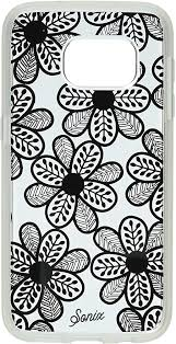 Sonix Carrying Case for Samsung Galaxy S7 Edge - Retail Packaging - Boho Floral Black