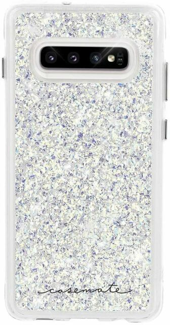 Case-Mate Twinkle Case for Samsung Galaxy S10- Stardust (Clear/Iridescent)