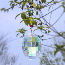 Load image into Gallery viewer, H&D Chakra Crystal Suncatcher with 76mm AB Gourd Prism Drops Rainbow Maker Craft Chain Hanging Window Ornament Home Garden Decor