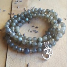 Load image into Gallery viewer, 108 Mala Yoga Necklace Meditation Beads 6mm Labradorite Bracelet Mala Jewelry Gift For Men