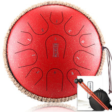 Load image into Gallery viewer, Steel Tongue Drum 13 Inch 15 Note /12.5 Inch 11 Note Drum Handheld Tank Drum Percussion Instruments Music Lovers Beginner Gift