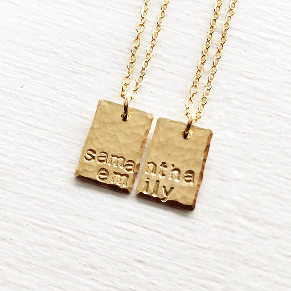 Best Friend or Sister Name Necklaces
