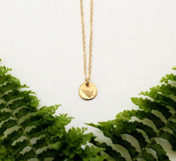 Fern Necklace - Small Disc Necklace
