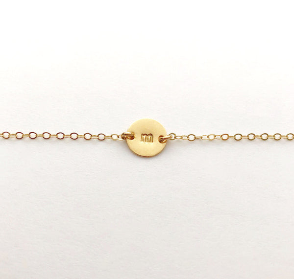 Personalized Disc Bracelet - Small Disc