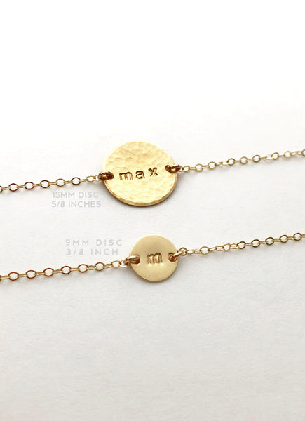 Personalized Disc Bracelet - Large Disc