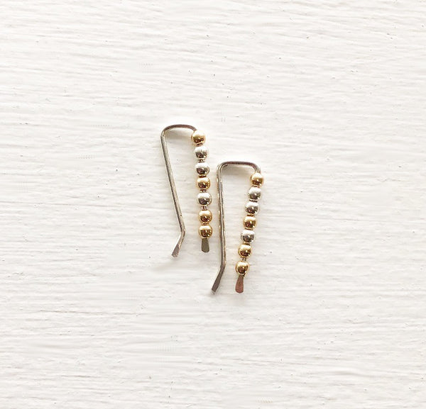 Sterling and Gold Ear Crawlers