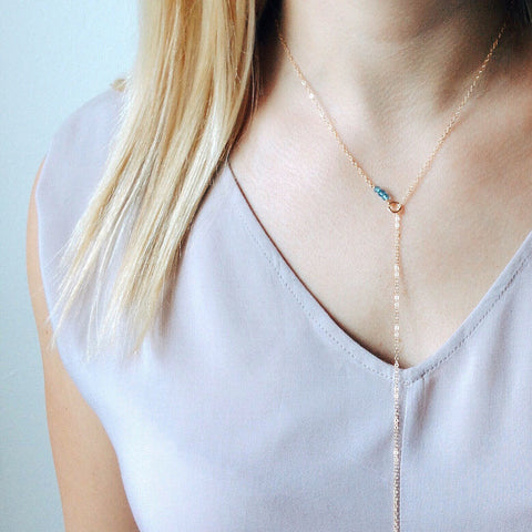 Birthstone Lariat - Halos Collection