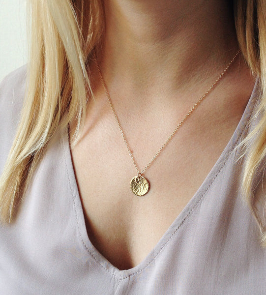 Large Circle Halo Necklace - Halos Collection