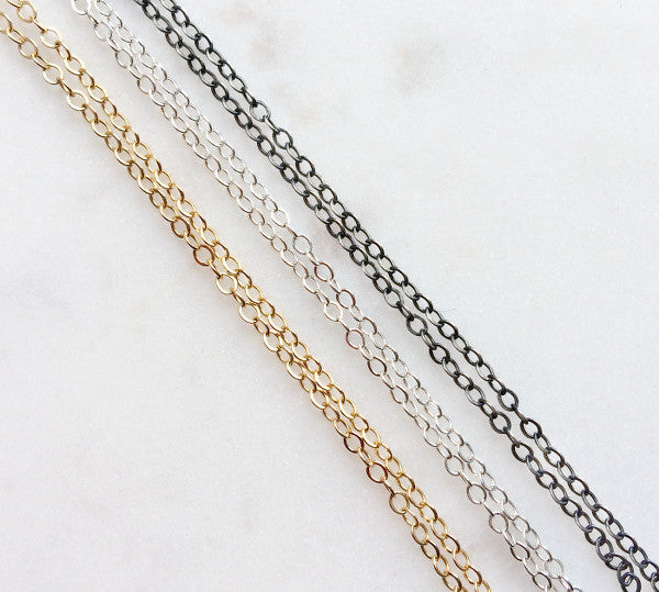 Pyrite Double Layer Chain Necklace - Halos Collection