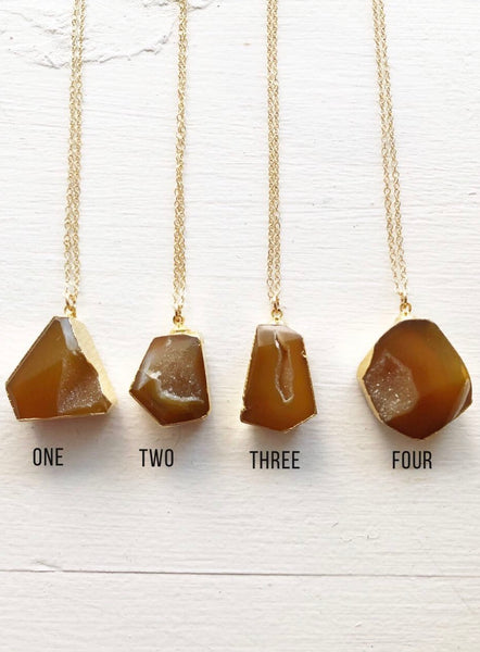 Honey Agate Gemstone Necklace