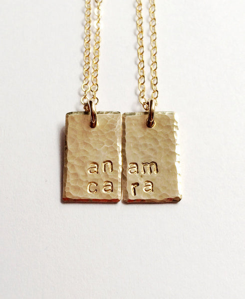 """Anam Cara"" Necklaces Set for Best Friends, Mothers & Daughters or Sisters"