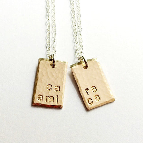 """Cara Amica"" Necklaces Set for Best Friends, Mothers & Daughters or Sisters"