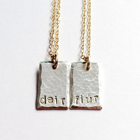 """Deirfiúr"" Necklaces Set, Sisters Gift"