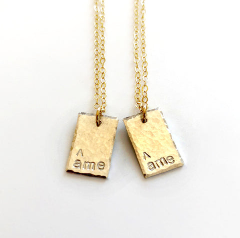 âme âme Best Friend or Sister Necklace Set