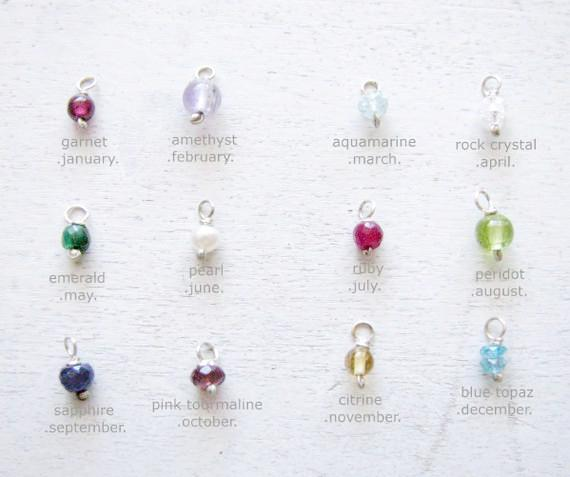 Lightburts Necklace Birthstone Necklace