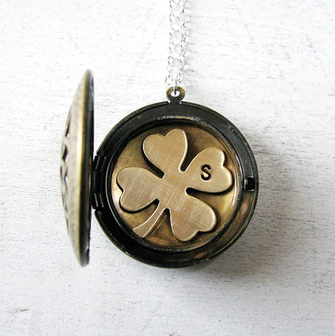Personalized Clover Locket