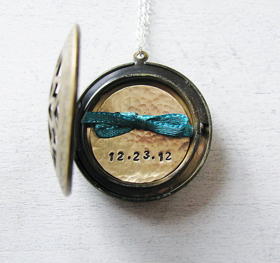 Custom Date Jewelry - Anniversary Present - New Mother Gift