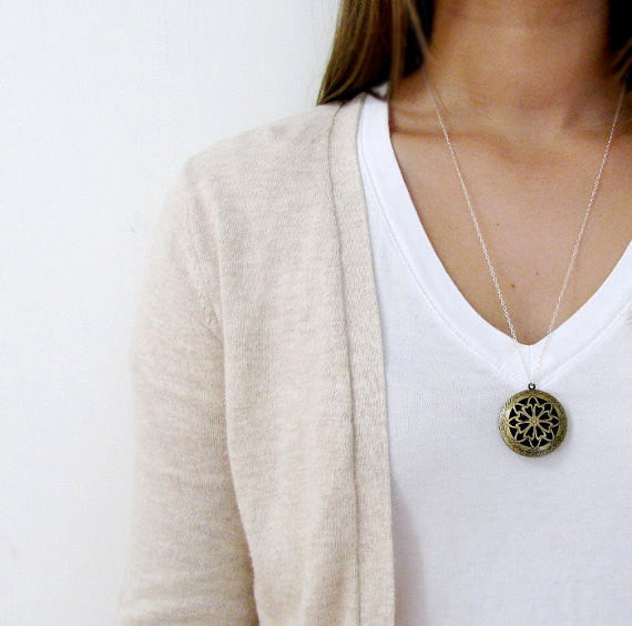 Simple Locket Necklace