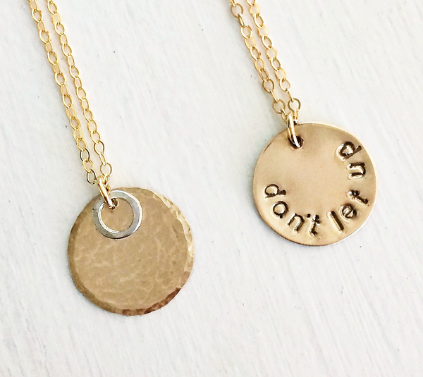 Hidden Message Halo Necklace - Halos Collection