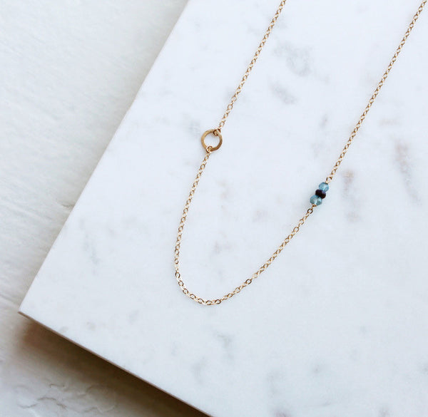 Delicate Gold Necklace Gift for Sister Birthstone Necklace