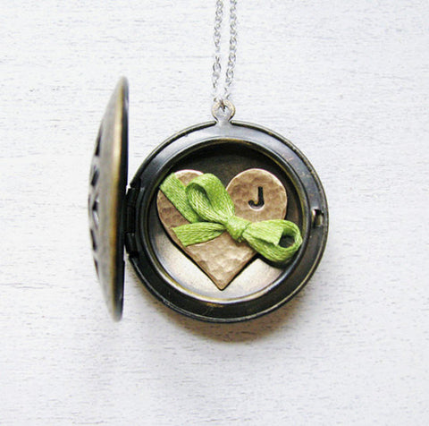 Initial Jewelry - Mothers Necklace with Heart