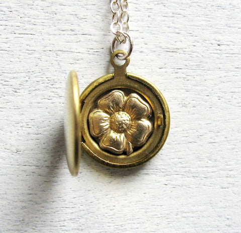 Personalized Flower Locket