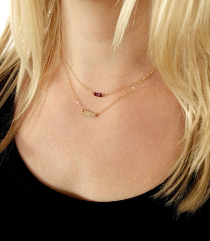 layered initial necklace set