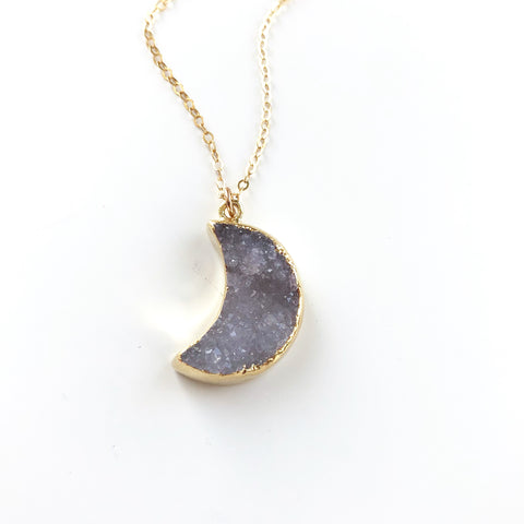 Moon Druzy Necklace