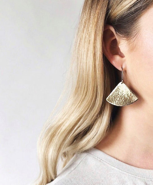 April 9, 2020: Brass Fan Earrings