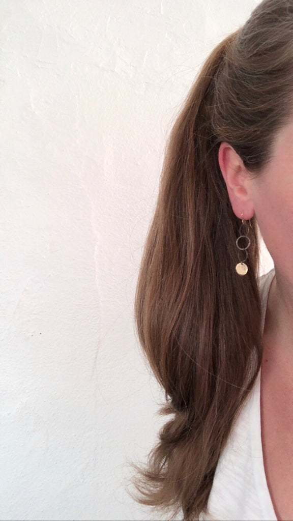 May 21, 2020: Gold & Brushed Sterling Marlie Earrings