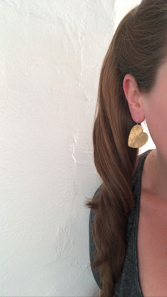 May 27, 2020: Large Heart Earrings