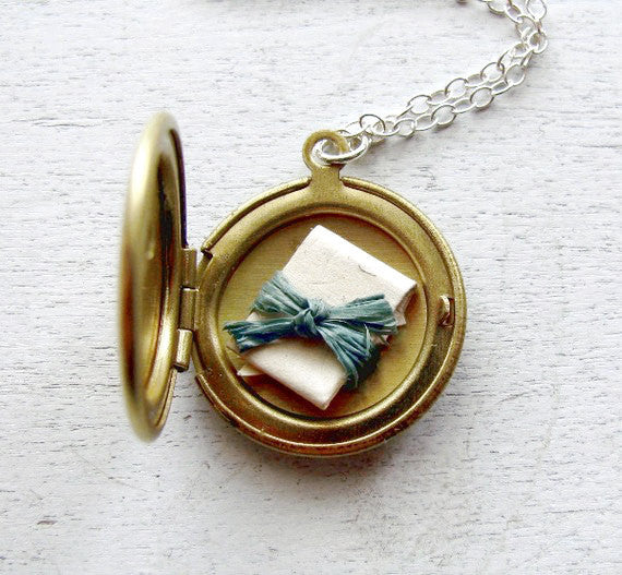 Secret Message Locket Personalized Locket Bridesmaid Gift