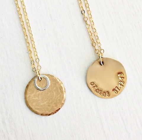 Met & Married Halo Hidden Message Necklace