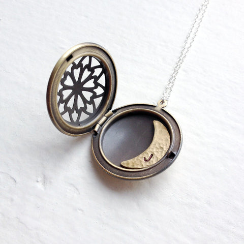 I love you to the moon back moon phase jewelry