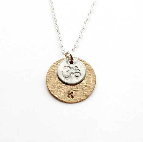 custom yoga jewelry with om symbol