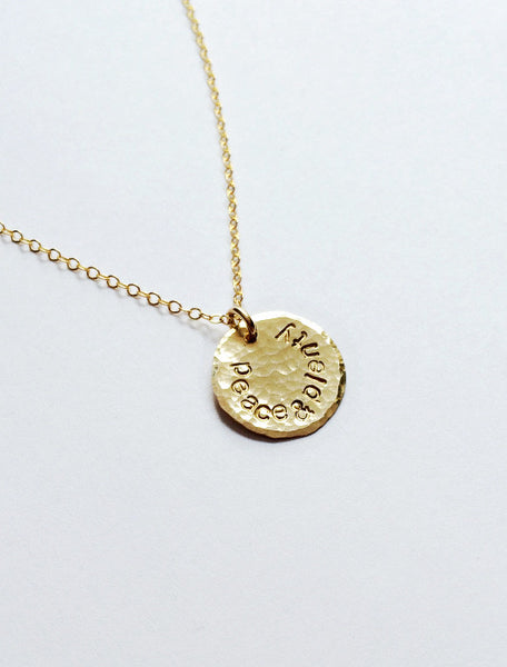 Peace & Plenty Circle Necklace