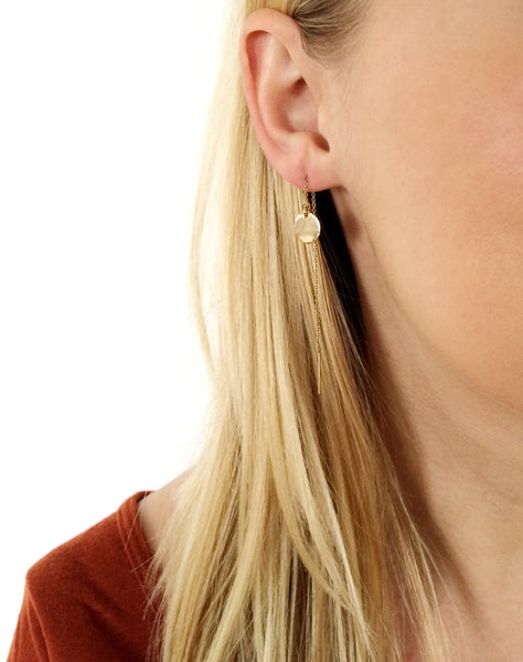 Gold or Sterling Threader Earrings